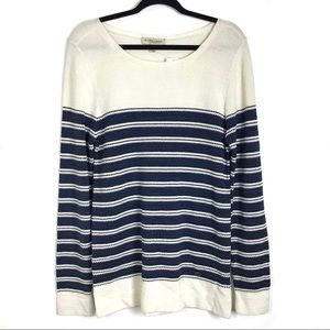 NEW Burberry Striped Knit Sweater Size Large
